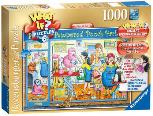 The Pet Parlour (What If? #6) (RB19364-6), a 1000 piece jigsaw puzzle by Ravensburger. Click to view larger image.