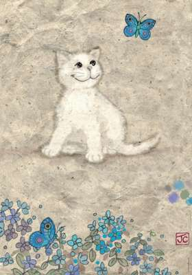 White Kitty (HEY29626), a 500 piece jigsaw puzzle by HEYE. Click to view larger image.