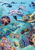 Tropical Sea (Flora and Fauna) (HEY29623), a 500 piece HEYE jigsaw puzzle.