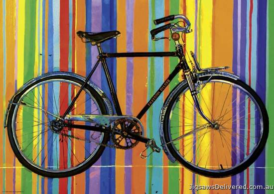 Freedom Deluxe (Bike Art) (HEY29541), a 1000 piece jigsaw puzzle by HEYE.