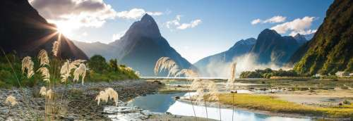 Milford Sound (HEY29606), a 1000 piece jigsaw puzzle by HEYE. Click to view larger image.