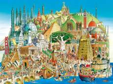 Global City (HEY29634), a 1500 piece HEYE jigsaw puzzle.