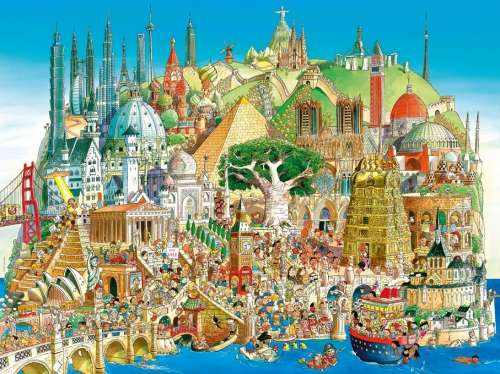 Global City (HEY29634), a 1500 piece jigsaw puzzle by HEYE. Click to view larger image.