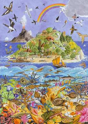 Alphabet Island (01445), a 1000 piece jigsaw puzzle by Holdson. Click to view larger image.