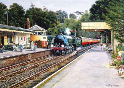 Sunny Day at Alresford (08668), a 1000 piece jigsaw puzzle by Holdson. Click to view larger image.