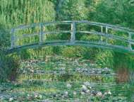 Water Lily Pond (CLE 39266), a 1000 piece Clementoni jigsaw puzzle.
