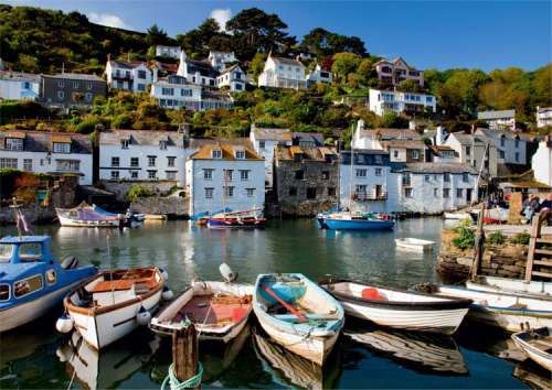 Polperro Harbour (JUM11046), a 1000 piece jigsaw puzzle by Jumbo. Click to view larger image.