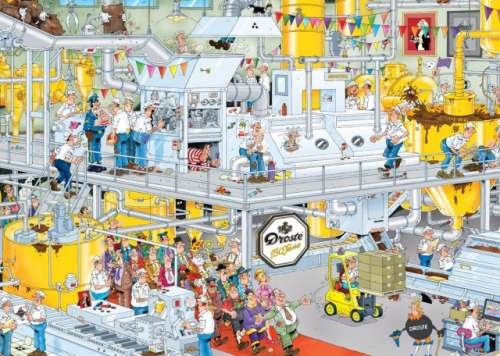 Chocolate Factory (JUM17452), a 1000 piece jigsaw puzzle by Jumbo. Click to view larger image.