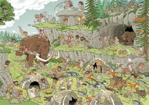 Stone Age (JUM19200), a 500 piece jigsaw puzzle by Jumbo. Click to view larger image.