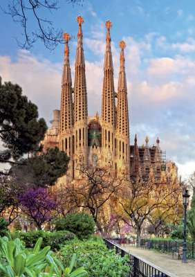 Sagrada Familia (EDU15986), a 1000 piece jigsaw puzzle by Educa. Click to view larger image.