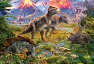 Dinosaur Gathering (EDU15969), a 500 piece Educa jigsaw puzzle.