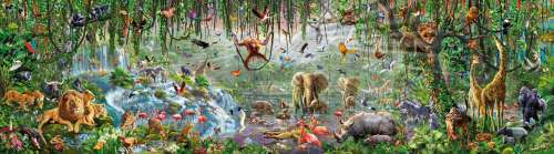 Wildlife (EDU16066), a 33600 piece jigsaw puzzle by Educa. Click to view larger image.