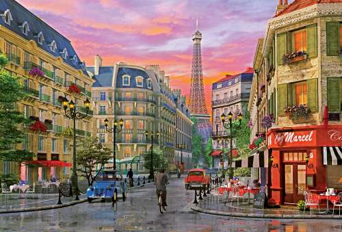 Rue Paris (EDU16022), a 5000 piece jigsaw puzzle by Educa. Click to view larger image.