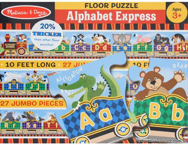 Alphabet Express Floor Puzzle (MND4420), a 26 piece jigsaw puzzle by Melissa and Doug.