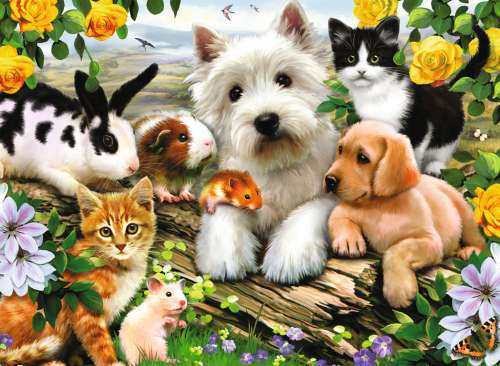 Baby Animals (RB13160-0), a 300 piece jigsaw puzzle by Ravensburger. Click to view larger image.