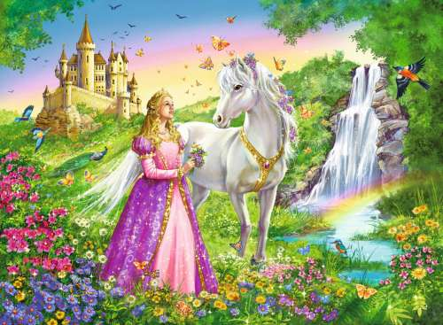 Princess with a Horse (RB12613-2), a 200 piece jigsaw puzzle by Ravensburger. Click to view larger image.