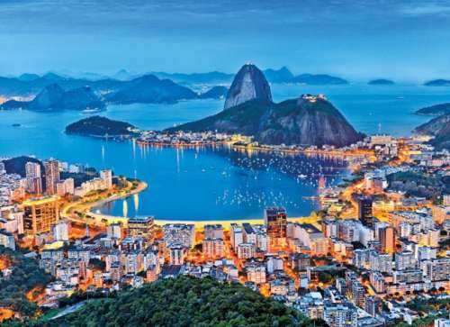 Rio de Janeiro (CLE 39258), a 1000 piece jigsaw puzzle by Clementoni. Click to view larger image.