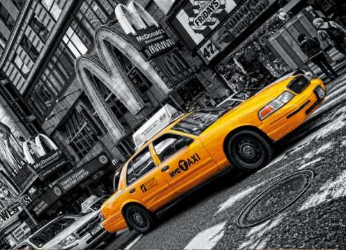 New York Taxi (CLE 39274), a 1000 piece jigsaw puzzle by Clementoni. Click to view larger image.