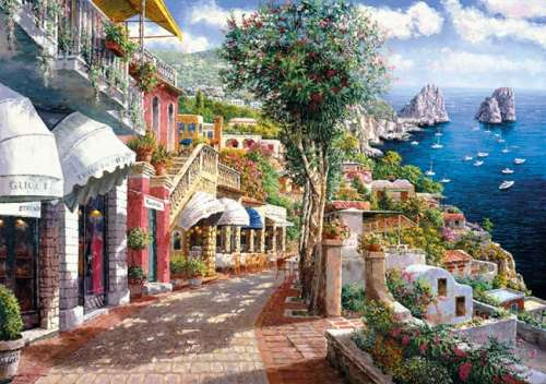 Capri (CLE 39257), a 1000 piece jigsaw puzzle by Clementoni. Click to view larger image.