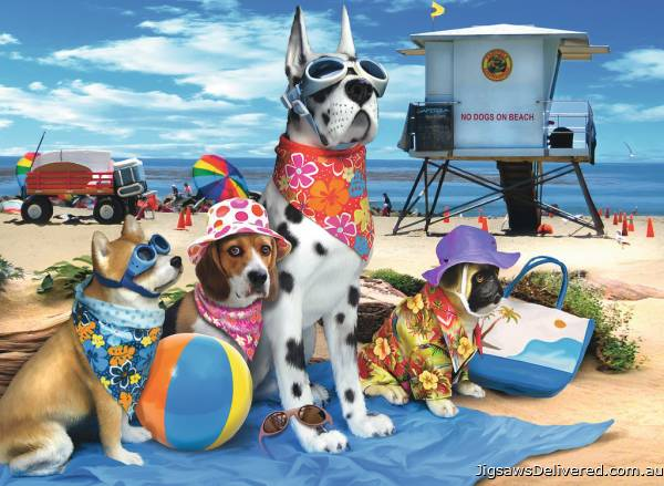 No Dogs on the Beach (RB10526-7), a 100 piece jigsaw puzzle by Ravensburger.
