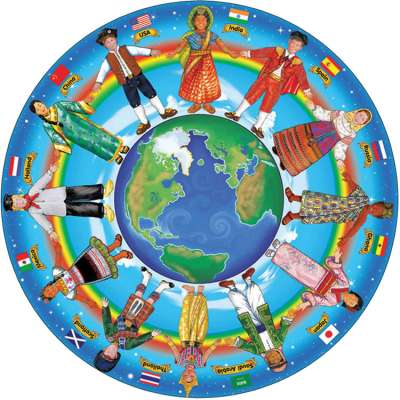 Children Around the World (Floor Puzzle) (MND2866), a 48 piece jigsaw puzzle by Melissa and Doug. Click to view larger image.