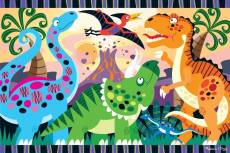 Dinosaur Dawn (Floor Puzzle) (MND4425), a 24 piece Melissa and Doug jigsaw puzzle.