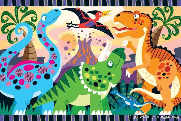 Dinosaur Dawn (Floor Puzzle) (MND4425), a 24 piece jigsaw puzzle by Melissa and Doug.