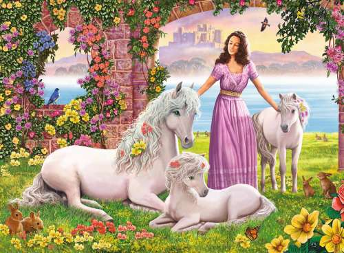 Beautiful Princess (RB10008-8), a 150 piece jigsaw puzzle by Ravensburger. Click to view larger image.