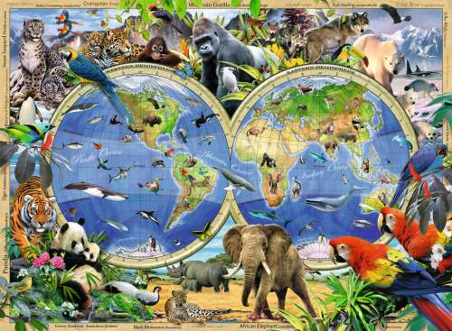 World of Wildlife (RB13173-0), a 300 piece jigsaw puzzle by Ravensburger. Click to view larger image.