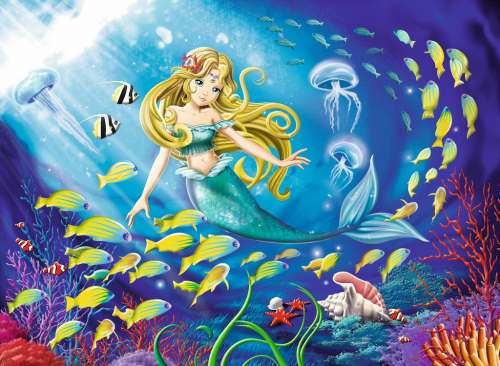 Little Mermaid (RB10511-3), a 100 piece jigsaw puzzle by Ravensburger. Click to view larger image.