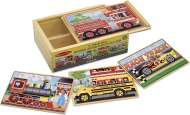 Vehicles Box Set (4 x 12pc Wooden) (MND3794), a 12 piece Melissa and Doug jigsaw puzzle.