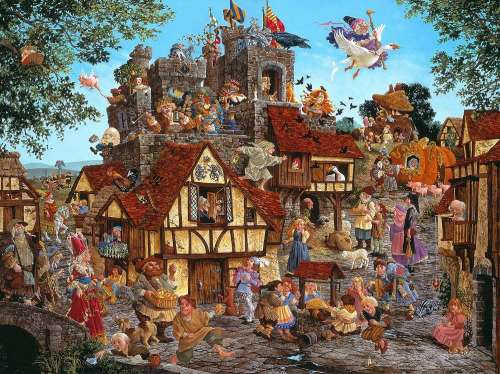 Rhymes and Reasons (SUN67583), a 1500 piece jigsaw puzzle by Sunsout. Click to view larger image.