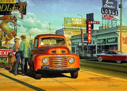 Sunset Street (Automania) (HOL095636), a 1000 piece jigsaw puzzle by Holdson. Click to view larger image.