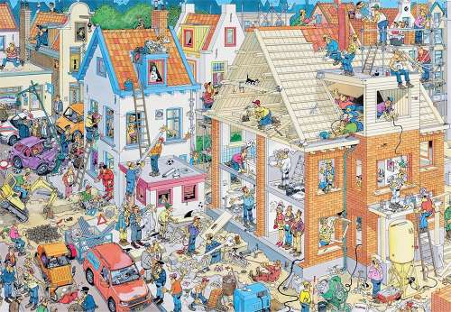 Building Site (1500pc) (JUM17461), a 1500 piece jigsaw puzzle by Jumbo. Click to view larger image.