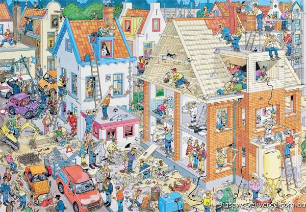 Building Site (1500pc) (JUM17461), a 1500 piece jigsaw puzzle by Jumbo.