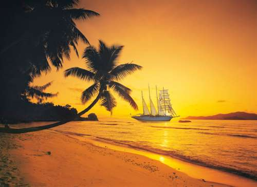 Seychelles Sunset (CLE 39235), a 1000 piece jigsaw puzzle by Clementoni. Click to view larger image.