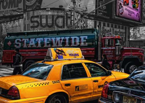 New York Taxi (RB19443-8), a 1000 piece jigsaw puzzle by Ravensburger. Click to view larger image.