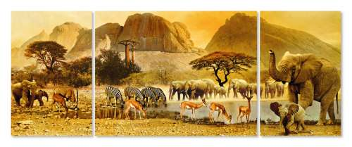 African Journey (RB19375-2), a 1000 piece jigsaw puzzle by Ravensburger. Click to view larger image.