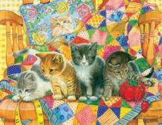 Rocking Kittens (SUN71916), a 1000 piece Sunsout jigsaw puzzle.
