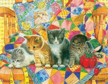 Rocking Kittens (SUN71916), a 1000 piece jigsaw puzzle by Sunsout. Click to view larger image.