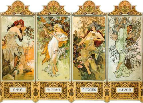 The Four Seasons (CLE 39177), a 1000 piece jigsaw puzzle by Clementoni. Click to view larger image.