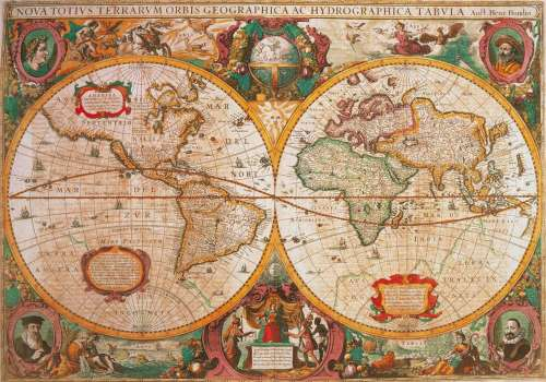 Antique Map (CLE 31229), a 1000 piece jigsaw puzzle by Clementoni. Click to view larger image.