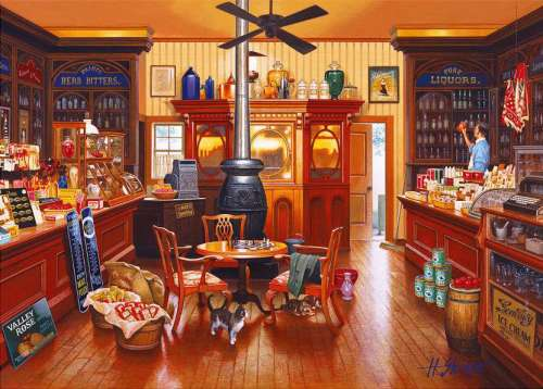Brown Sugar (Interiors) (HOL095575), a 1000 piece jigsaw puzzle by Holdson. Click to view larger image.