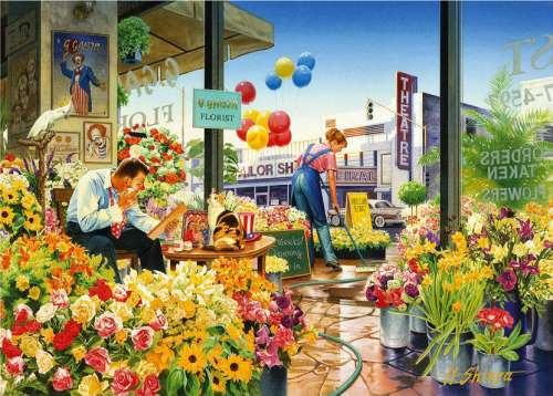 Sweet Home Flower Shop (Interiors) (HOL095599), a 1000 piece jigsaw puzzle by Holdson. Click to view larger image.