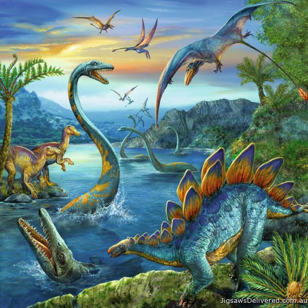 Dinosaur Fascination (3 x 49pc) (RB09317-5), a 49 piece jigsaw puzzle by Ravensburger.