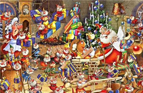 Christmas Chaos (PIA537943), a 1000 piece jigsaw puzzle by Piatnik. Click to view larger image.