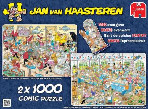 Food Frenzy (2 x 1000pc) (JUM19083), a 1000 piece jigsaw puzzle by Jumbo. Click to view larger image.