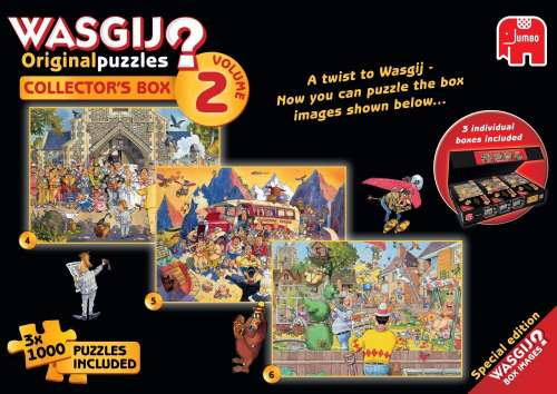 Wasgij Collectors Box 2 (3-in-1) (JUM19100), a 1000 piece jigsaw puzzle by Jumbo. Click to view larger image.