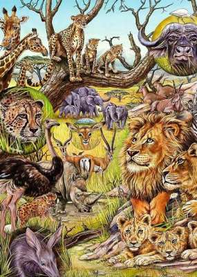 Savannah (HEY29661), a 1000 piece jigsaw puzzle by HEYE. Click to view larger image.