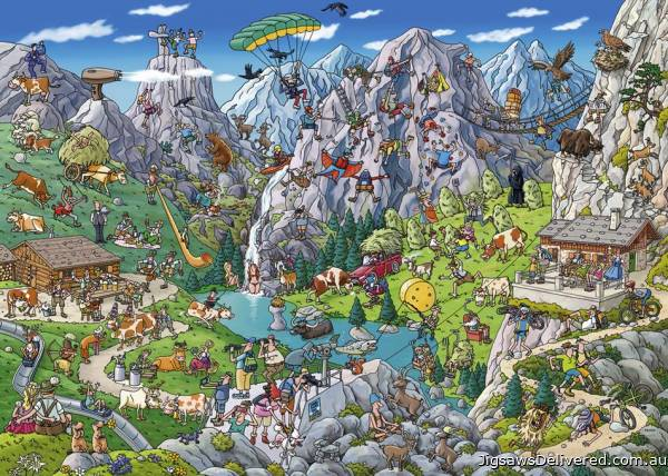 Alpine Fun (HEY29680), a 1000 piece jigsaw puzzle by HEYE.